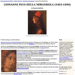 Storia gay - Giovanni Pico della Mirandola