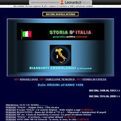 STORIA D'ITALIA - STORIA CRONOLOGICA DI 2000 ANNI