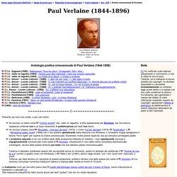 Testi di storia gay - Paul Verlaine - Poesie d'amore omosessuale
