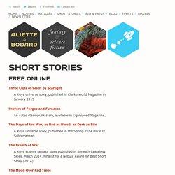 Short Stories Archive - Aliette de Bodard
