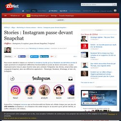 Stories : Instagram passe devant Snapchat - ZDNet
