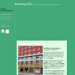 Stories for ESL learners, Grammar Structures