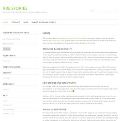 RBE Stories | Making Films From The Resource Based World