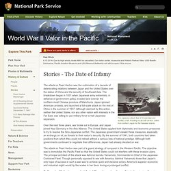 Stories - The Date of Infamy - World War II Valor in the Pacific National Monument