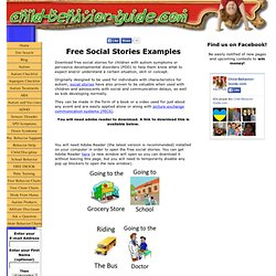 Free Social Stories - Printable Examples