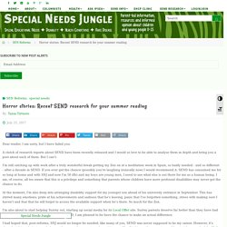 Horror stories: Recent SEND research for your summer reading - Special Needs Jungle