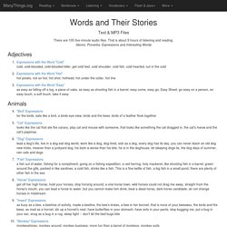 Words and Their Stories in VOA Special English (ESL/EFL) Idioms & Phrases