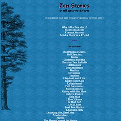 Zen Stories to Tell Your Neighbors
