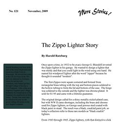 More Stories - The Zippo Lighter Story