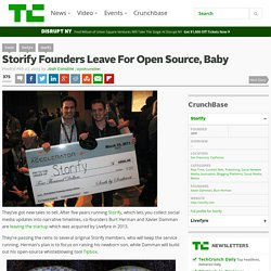 Storify Founders Leave For Open Source, Baby