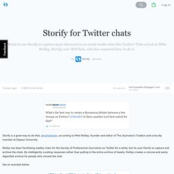 for Twitter chats - storify.com