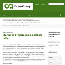 Storing an IP address in a database table