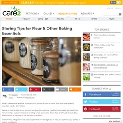 Storing Tips for Flour & Other Baking Essentials