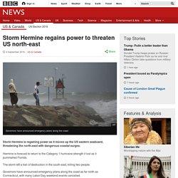 Storm Hermine regains power to threaten US north-east