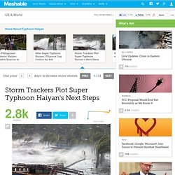 Storm Trackers Plot Super Typhoon Haiyan's Next Steps