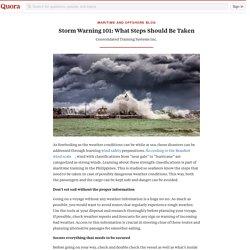 Storm Warning 101: What Steps Should Be Taken