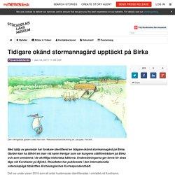 Tidigare okänd stormannagård upptäckt på Birka - Stockholms läns museum