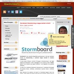 Stormboard: Brainstorming e mappe mentali in html5