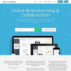 Edistorm - Edistorm - Online Brainstorming and Planning. Add a sticky note and post it online.