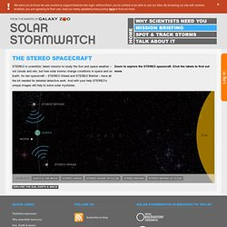 Solar Stormwatch: La nave espacial STEREO