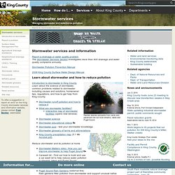 Stormwater Services and Information