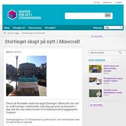 Stortinget skapt på nytt i Minecraft