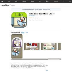 Kid in Story Book Maker Lite on the AppStore
