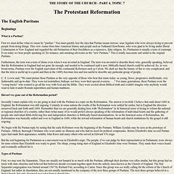 Story of the Church - The English Puritans