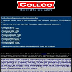 Coleco Telstar systems