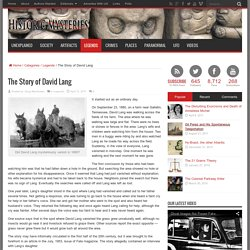 The Story of David Lang - Historic Mysteries