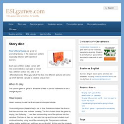 Story dice - ESL games
