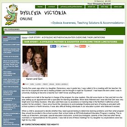 Our Story - Dyslexic Mother and Daughter