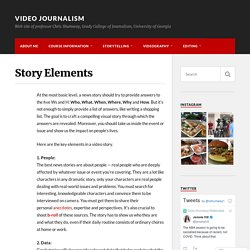 Story Elements – Video Journalism