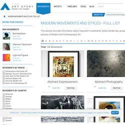 The Art Story: Movements and Styles in Modern Art