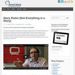 Story RadarSeven Story Learning