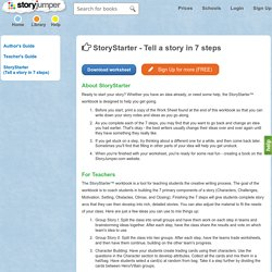 How to Tell a Story Worksheet - StoryStarter