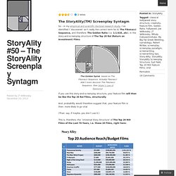StoryAlity #50 – The StoryAlity Screenplay Syntagm