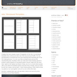 labs: Storyboard Templates. . .