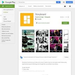 Storyboard – Applications sur GooglePlay