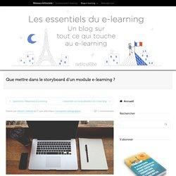 Que mettre dans le storyboard d'un module e-learning ? - Articulate