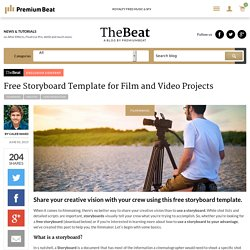 Free Storyboard Template for Film and Video Projects