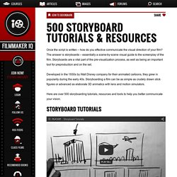 500 Storyboard Tutorials & Resources
