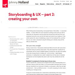 » Storyboarding & UX – part 2: creating your own Johnny Holland