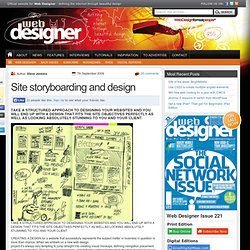 Site storyboarding and design | Web Designer - Defining the internet through beautiful design
