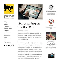 Storyboarding on the iPad Pro — Prolost