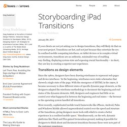 Storyboarding iPad Transitions