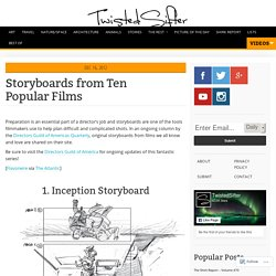 Storyboards from Ten Popular Films
