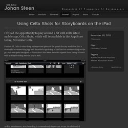 Using Celtx Shots for Storyboards on the iPad