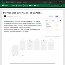 Storyboards Tutorial in iOS 9: Part 1