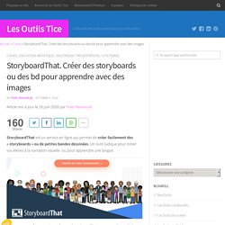 StoryboardThat. Créer des storyboards ou des bd pour apprendre avec des images